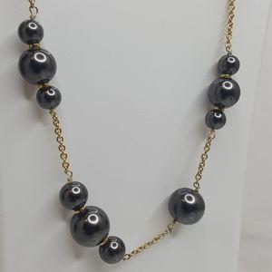 J. Crew Jewelry - J. Crew Black Pearl Necklace